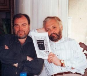 Владимир Батшев и Владимир Брюханов после выхода первого номера «Литературного европейца»