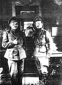 атаман Н. А. Григорьев (слева) и В. А. Антонов-Овсеенко