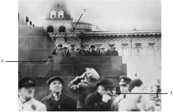 Работа охраны И. Сталина во время парадов