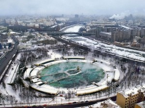 Бассейн «Москва» 80-е годы