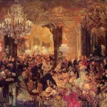 А.Ф. фон Менцель. Бал с ужином. 1878