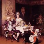 А. де Бушервилль. Потерянный ужин. 1874