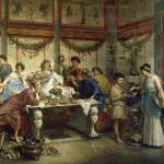 Древнеримское застолье.Бомпиани Роберто.1890г