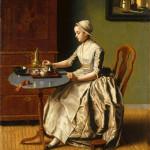 Ж. Э. Лиотар. Дама с шоколадом, Национальная галерея, Лондон