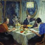 Куликов И.С.  Семья за чаем