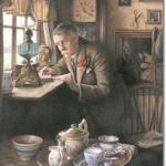 Charles Spencelayh Кое-кто придет к чаю
