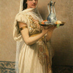 Jules Joseph Lefebvre. Женщина с подносом чая