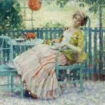 Karl Albert Buehr Чай на террасе