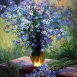 Виталий Ведерников. Цветы в саду