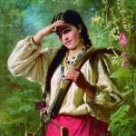 Константин Маковский. Девушка с коромыслом. 1874г.2