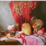 Лазарева Мария Сергеевна (Россия, 1979) «Пасхальный натюрморт» 2009