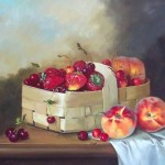 Сергей Панин -Натюрморт с лимоном и красной смородиной