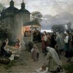 Художник Пимоненко Н.К.   Пасхальная заутреня