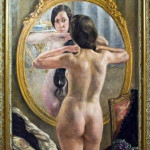 В.Тихов. Девушка у зеркала, 1924