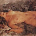 З.Серебрякова, Отдыхающая женщина, 1921