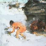 Н.Фешин. Баня, 1922