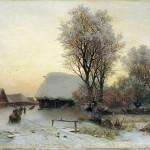 Кондратенко Гавриил Павлович (1854-1924) Зимний вечер