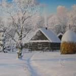 Пантелеев Игорь. Зимой в деревне