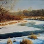 Петрович Дмитрий.Конец зимы на реке Плиса. 2009