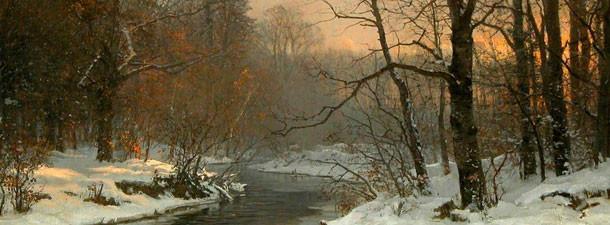 Великолепные зимние пейзажи известных художников